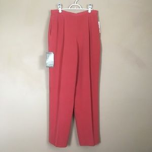 Dana Buchman Silk Pants Blonde Size 14 NEW - Flaw